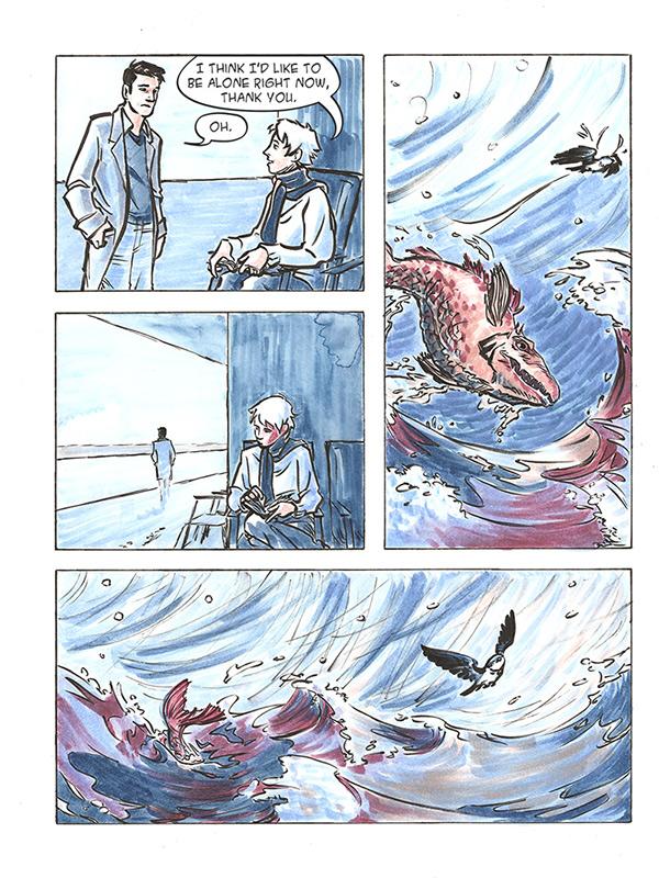 Graphic Novel flight escape cloudscape Travel