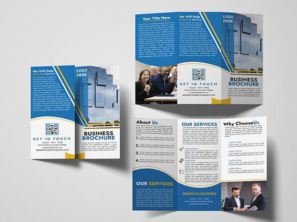 professional trifold, bifold brochure design