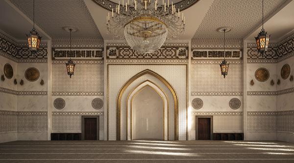 El zaidan mosque interior design on behance for Mosque exterior design