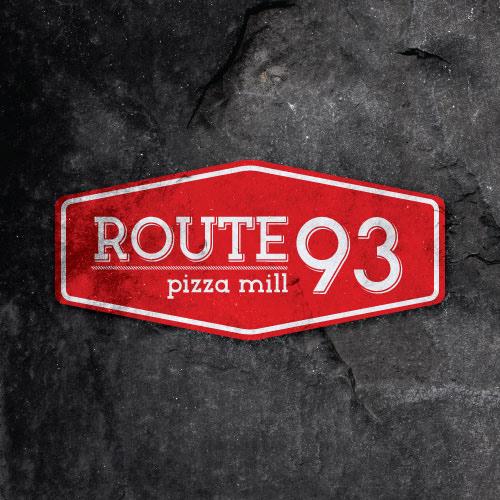 restaurant logo Pub logo Logo Design Calgary Graphic Design Calgary Vixel Design Route 93 Logo pizza logo