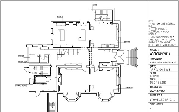 reflected ceiling plan  u0026 electrical plan drawing on behance