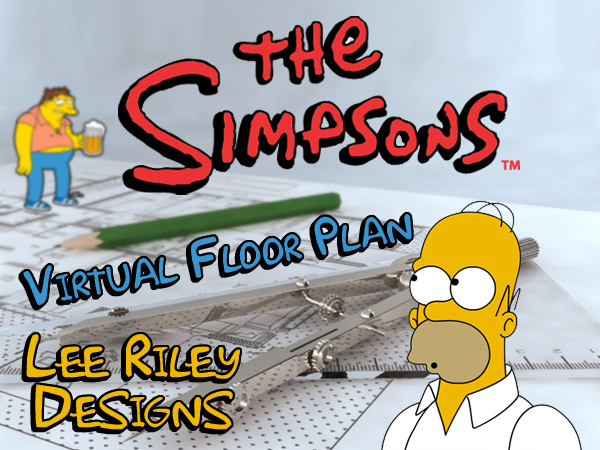The Simpsons   Virtual Floor Plan on BehanceThe Simpsons   Virtual Floor Plan A virtual tour of the classic Simpsons house created entirely in Google Sketch Up