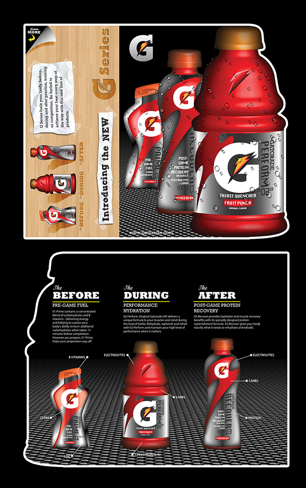 Nike golf gatorade promotional pieces fictional on behance for Nike brochure design