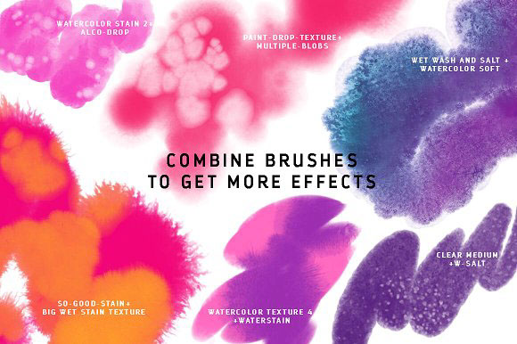 45 Procreate-4 Watercolor Brushes by PicByKate on Behance