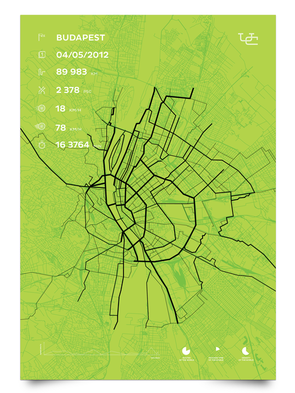 Urban cyclr Data visualization app application ios android Bicycle routes poster bag badge map app design