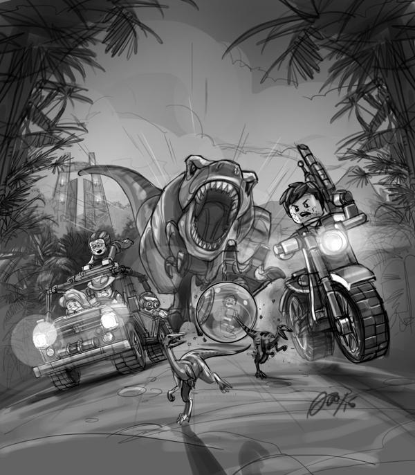 Lego Jurassic World Videogame Key Art and Promo Images on