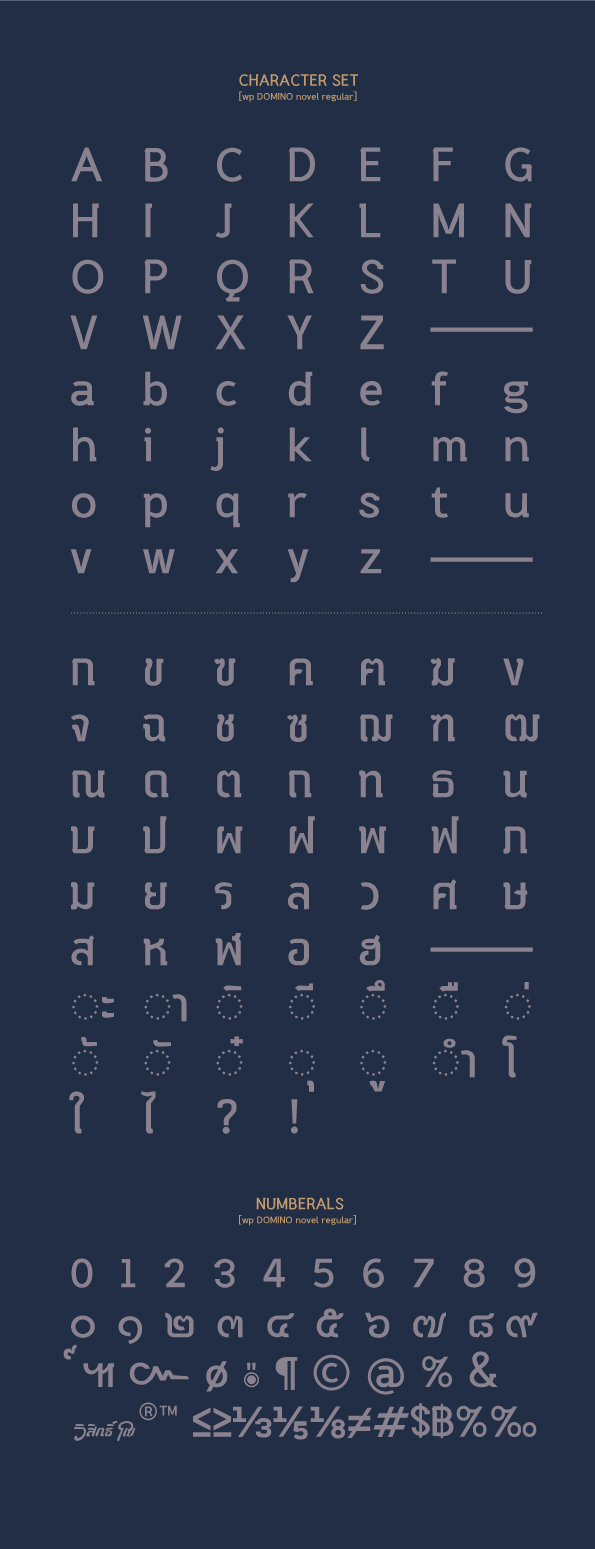 WP DOMINO novel font Free font thaifont the locked room mystery Wisit Po