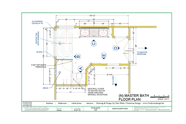 Bathroom drawings for construction bids or permits on behance for Bathroom construction plans