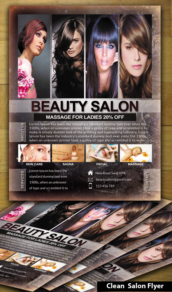salon flyer