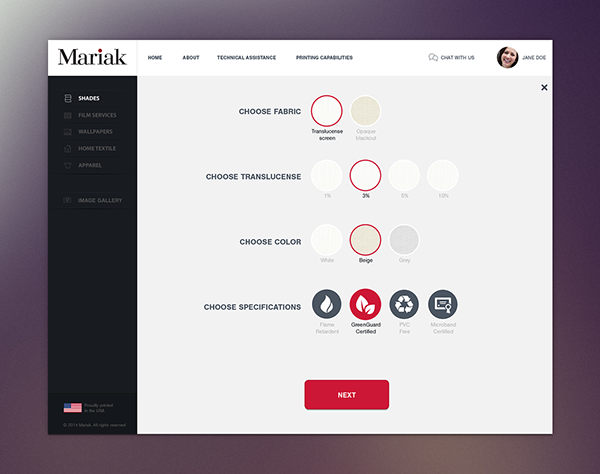 Mariak | Website Concept