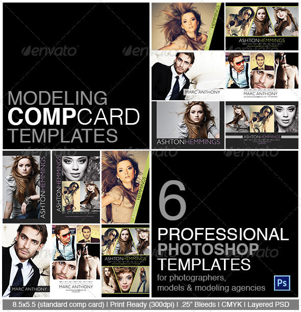 Model Comp Card Photoshop Template On Behance - Model comp card template