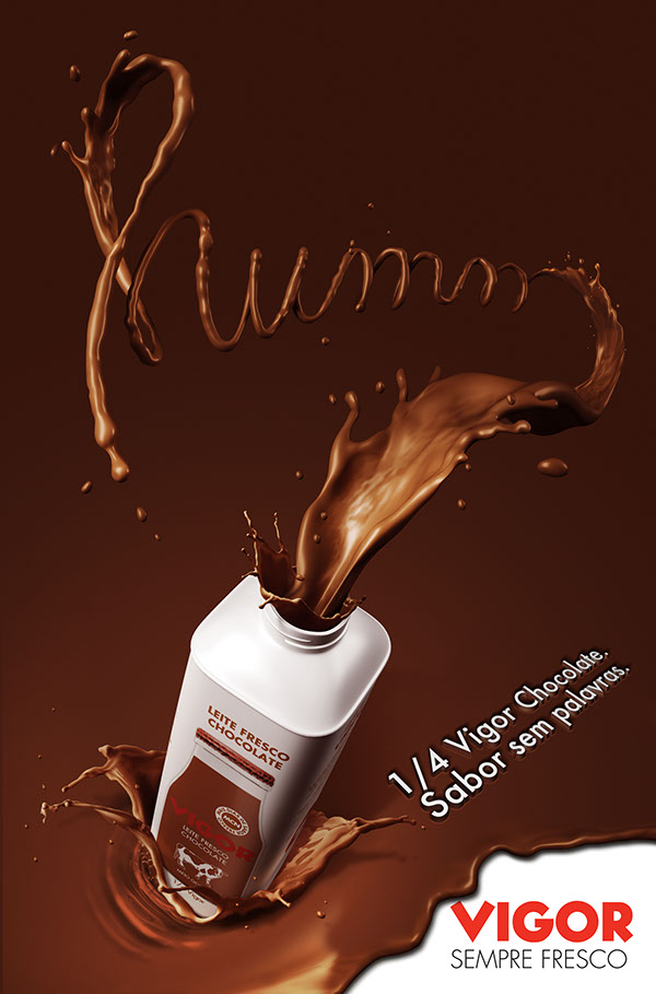 Poster Chocolate Flavoured Milk On Behance
