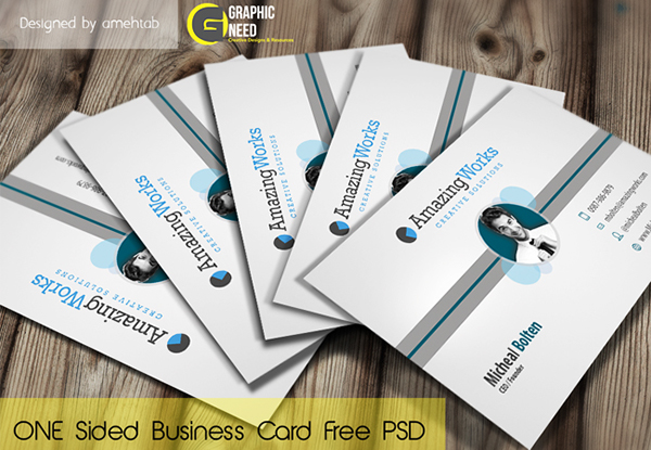 Creative One Sided Free Business Card Psd On Behance