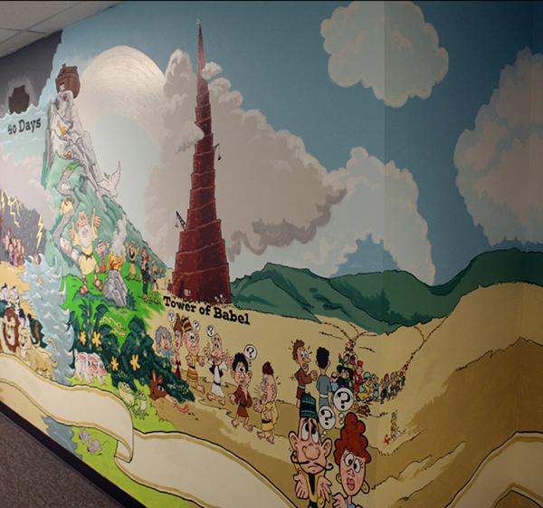 bible wall mural on behance