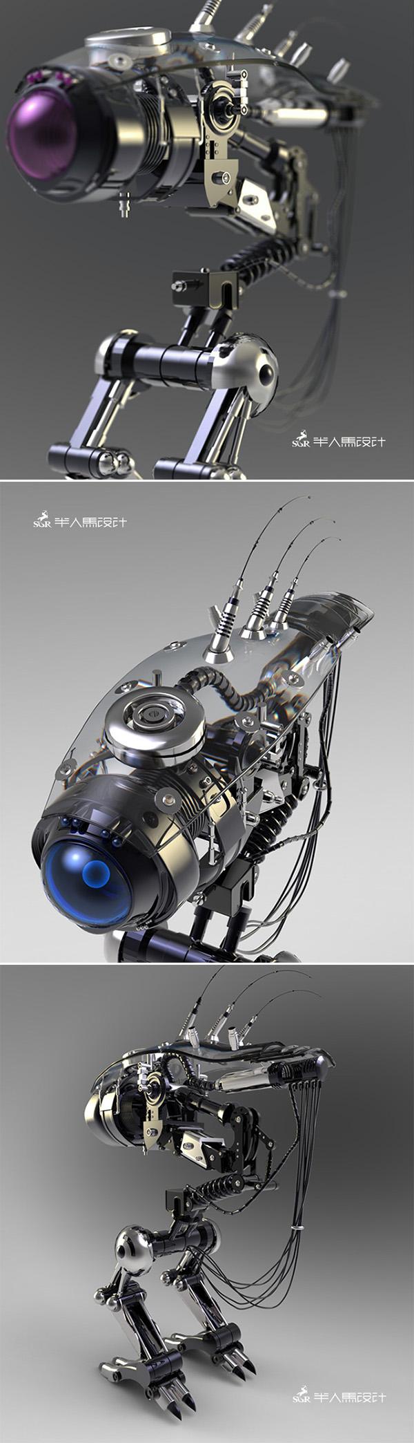 3d art robot