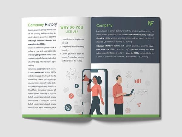 Marketing agency Brochure design