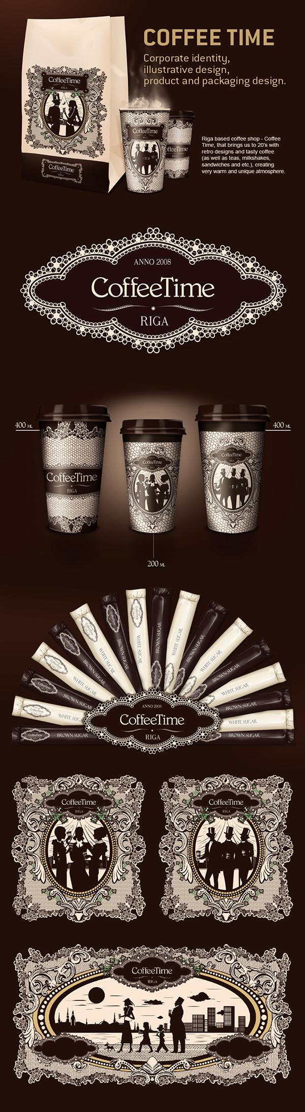 Coffee Coffee time coffee packaging coffee brand retro style coffee illustrations Sergio Laskin Studio43