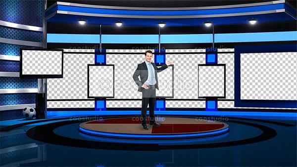 sport virtual set studio tv 7 on Behance