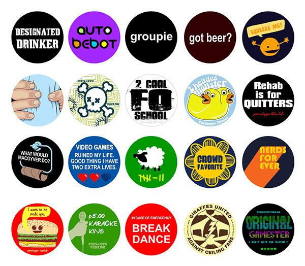 penshoppe teenlab button pin design on behance