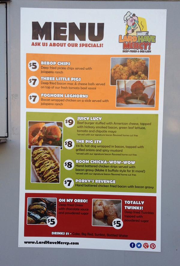 Menu Signs For Food Trucks