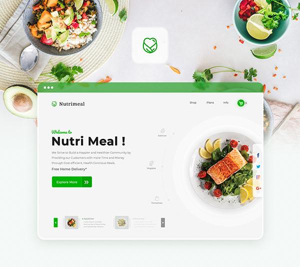 Nutrimeal Website UI