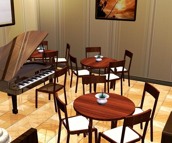 Restaurant modeling 3d max on behance for Restaurant 3d max