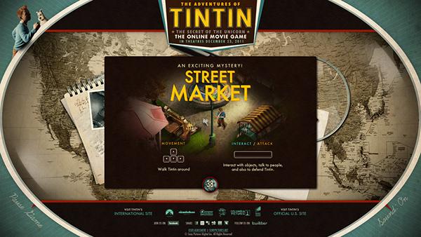 tintin game Jeff Mendoza Sony pictures movie website