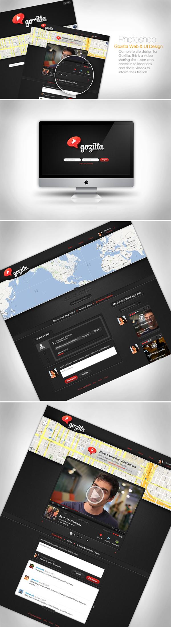 UI  user interface video visual design experience design