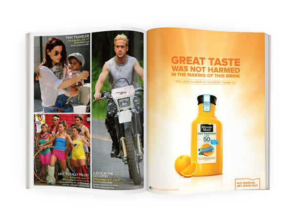 Minute Maid Pure Squeezed Light on Behance