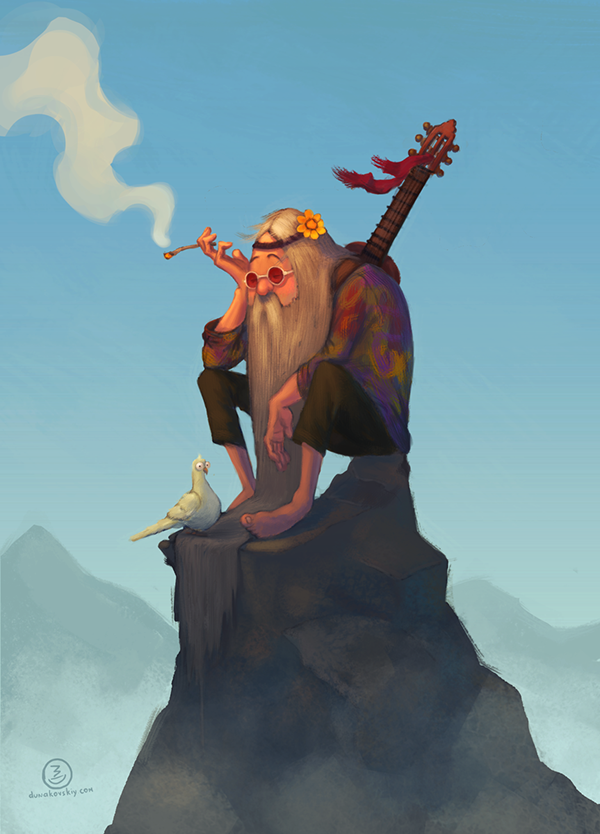 The Last Hippie by Mihail Dunakovskiy