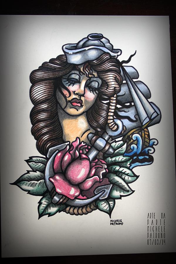 tattoo Draft sketch bodyart draw old school oldschool ink paper hand drawn skin