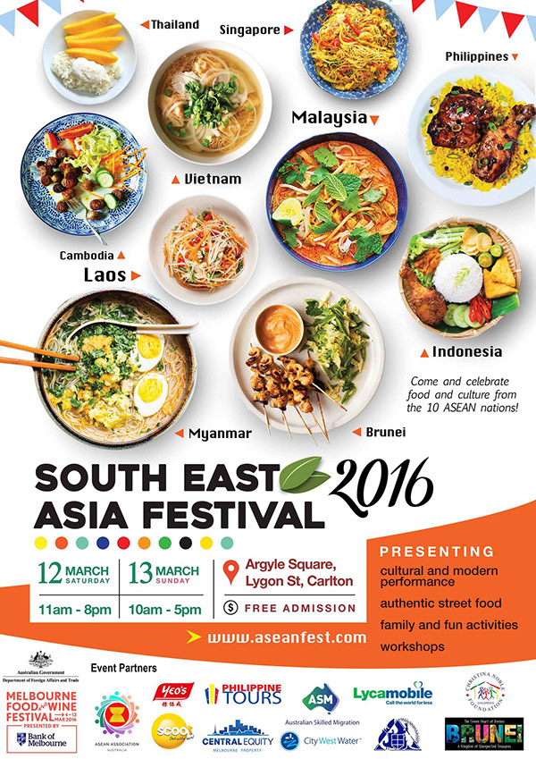 Poster Created For The South East Asia Festival Promotion In Facebook Drew An Average 10k Visitors Over Course Of Event While 31k People Were
