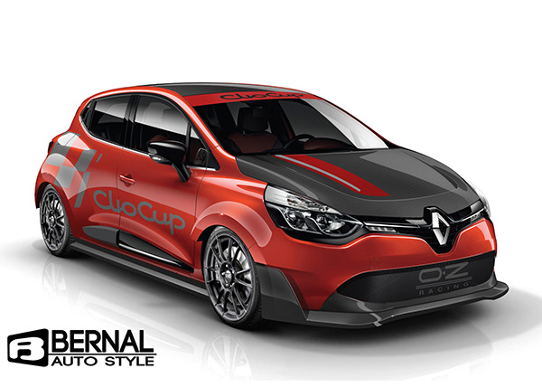 renault clio cup concept with wide body kit on behance. Black Bedroom Furniture Sets. Home Design Ideas