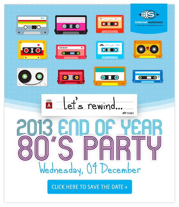 80 s themed end of year party invite on behance