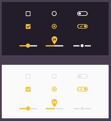 design android psd UI kit flat components material freebie material design mobile