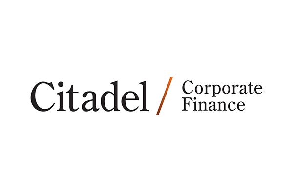 Citadel Corporate Finance  branding naming brand strategy graphic design  Stationery brochure design Web Design