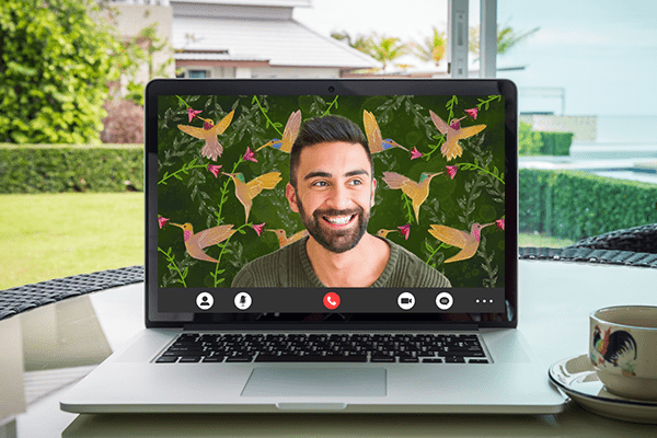 A year of virtual backgrounds for video calls: Sept.