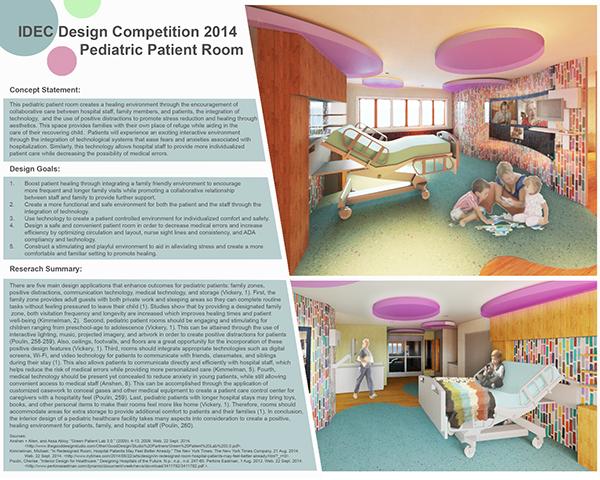 IDEC Competition 2015 Healthcare Patient Room Design on PhilaU