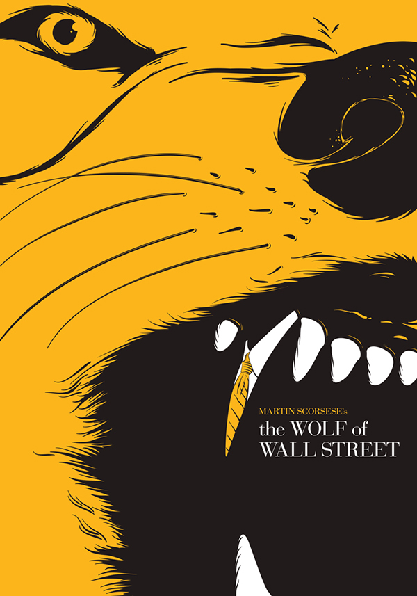 the Wolf of Wall Street | fan Poster Design on Behance