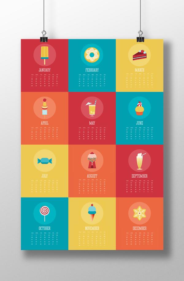 Calendar Design Behance : The sweet life calendar on behance