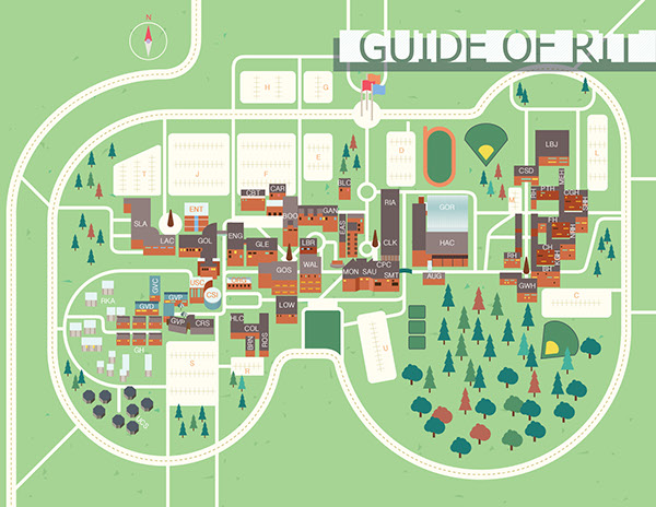 campus guide book  rochester institute of technology  on