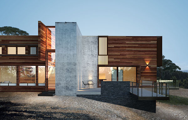 exterior 3d max corona contemporary house