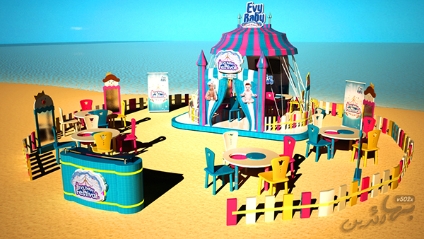 Exhibition Booth Behance : Evy baby carnival festival activation on behance