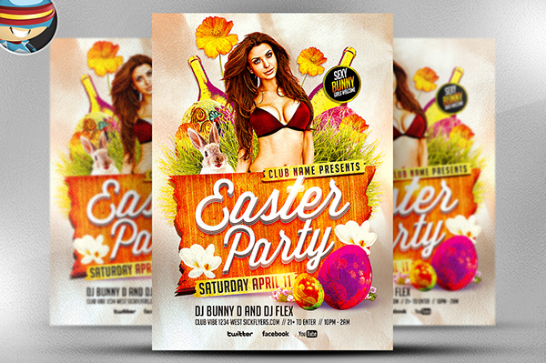 Easter Party Psd Flyer Template On Behance