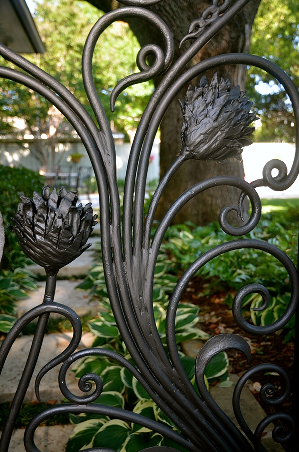 Wrought Iron Art Nouveau Inspired Garden Enclosure On Behance