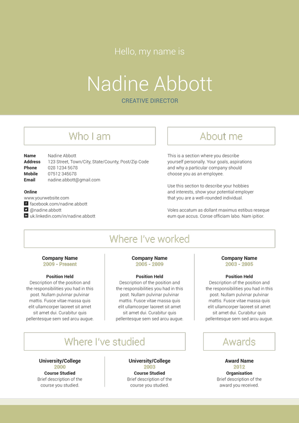 my resume v3 on behance