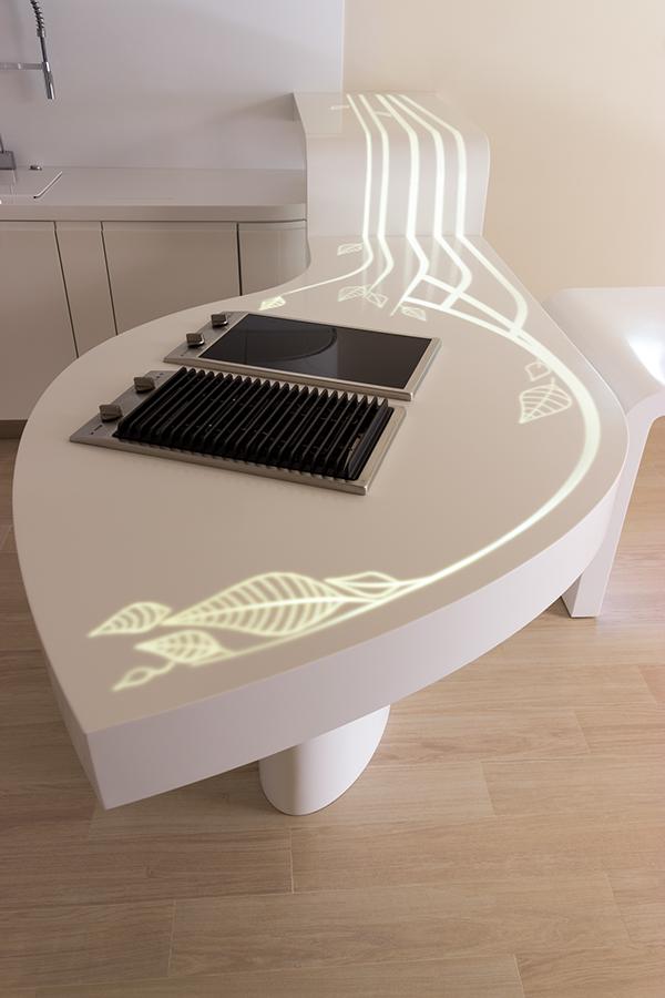 organic kitchen design.  The Leaf Concept on Behance