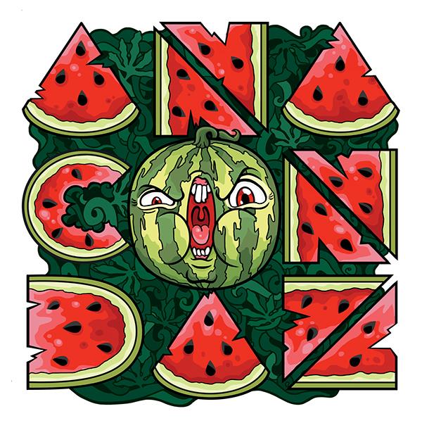 Anacondaz: watermelon font by Yan Yushin