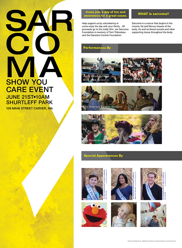 Sarcoma charity Poster Design