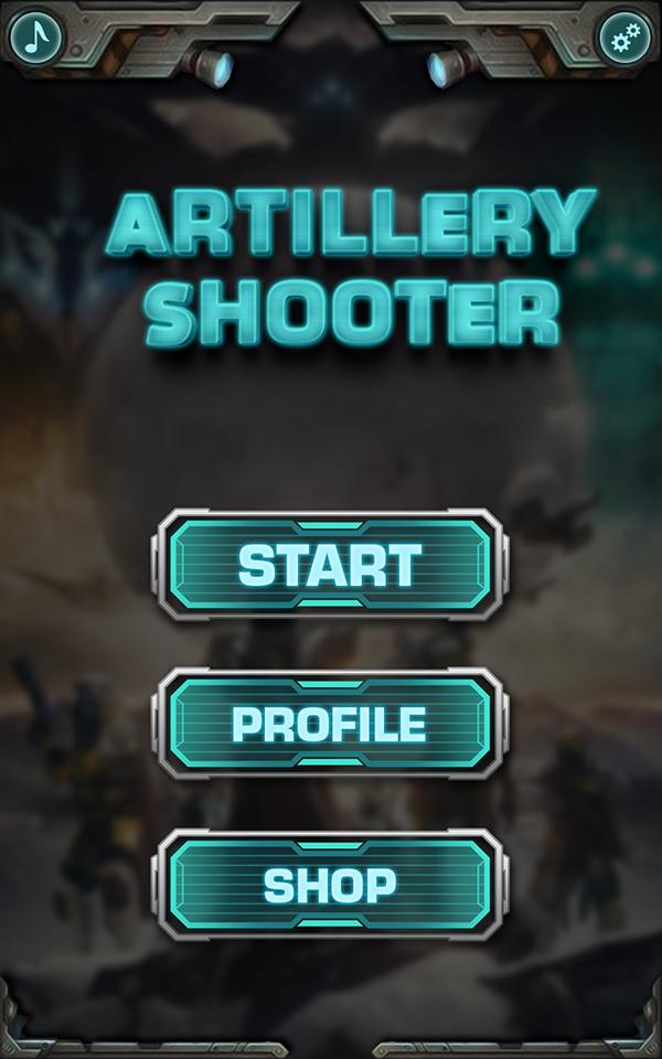 Artillery Shooter Game UI Design On Wacom Gallery - Game ui design